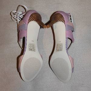 Anthropologie Shoes - Anthropologie BILLY ELLA Striped Lace Up Heels
